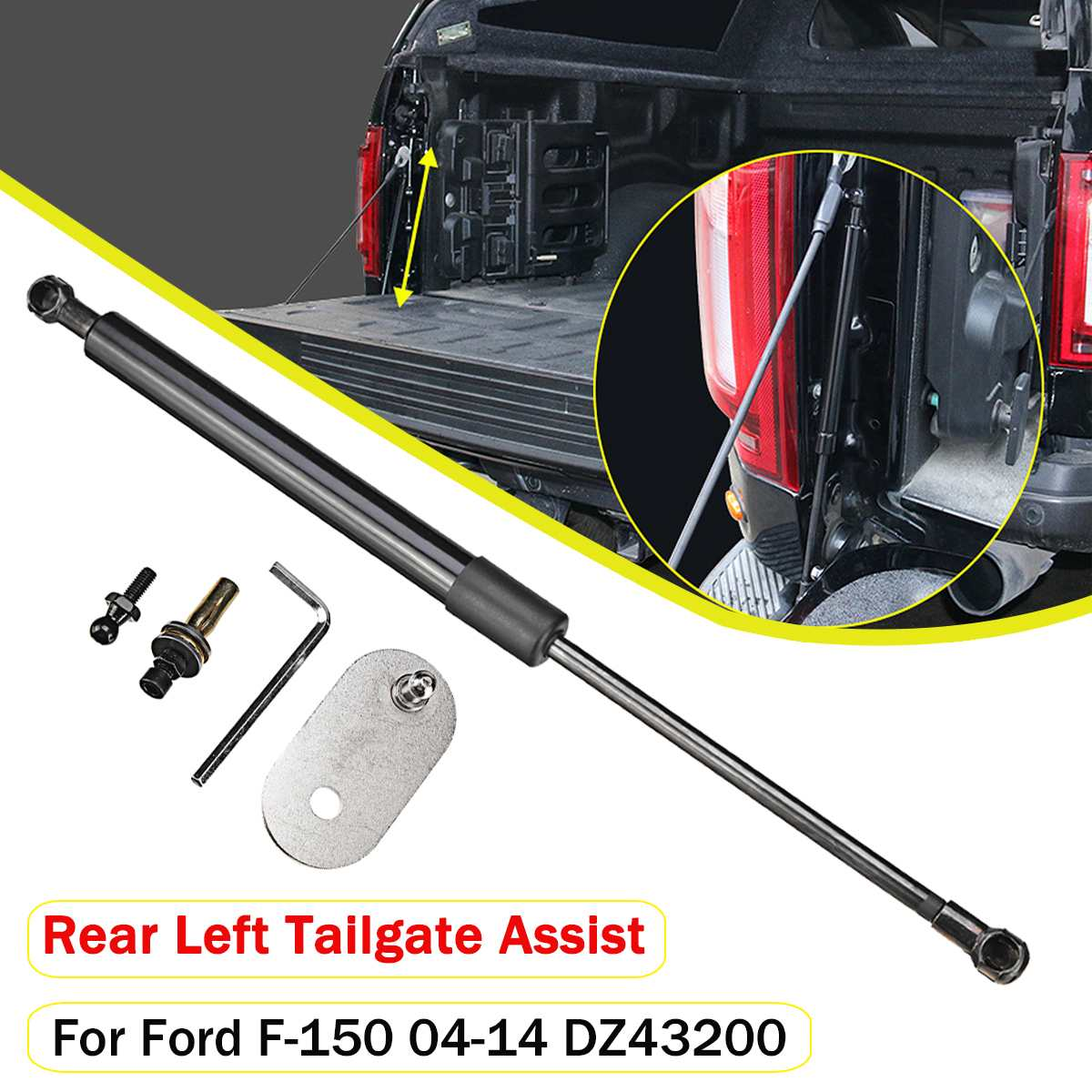 1Set Rear Trunk Tailgate Hydraulic Rod Shock Lift Struts Support Arm Bars DZ43200 For Ford F150 2004 2005 2006 2007 2008-2014