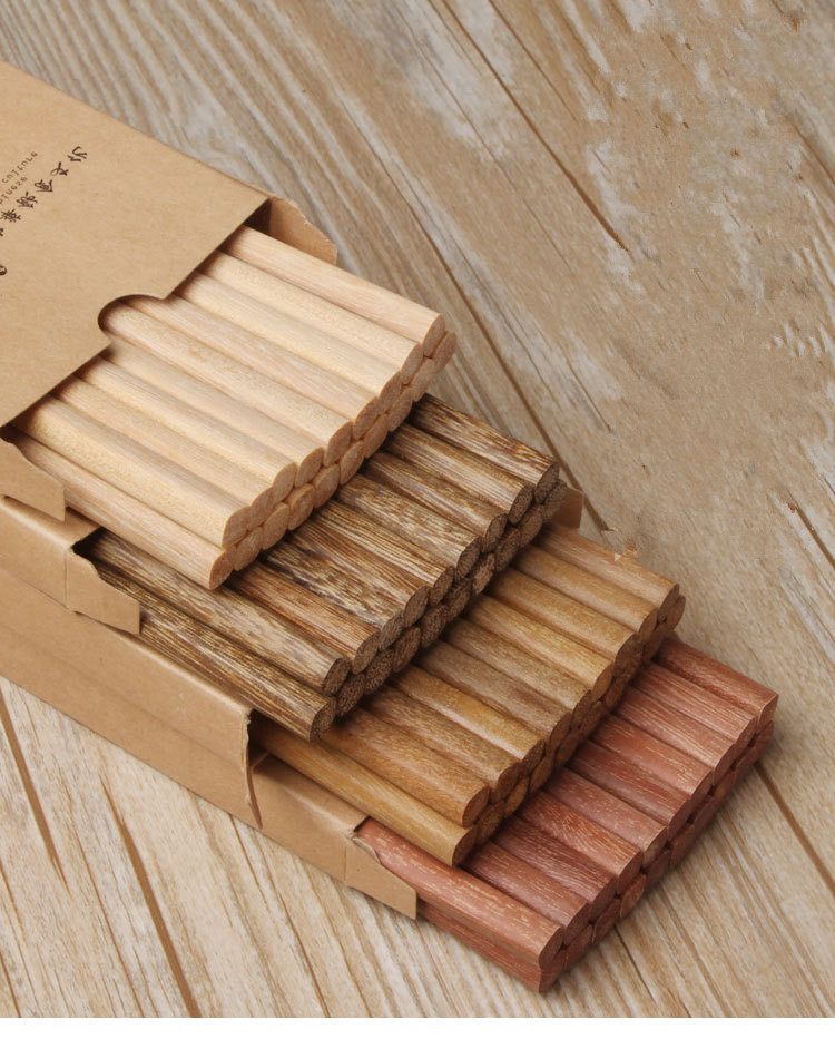 10pair/lot Japanese Natural Wooden Bamboo Chopsticks Health Without Lacquer Wax Tableware Dinnerware Hashi Sushi Chinese Mf 006 Chopsticks Home & Garden