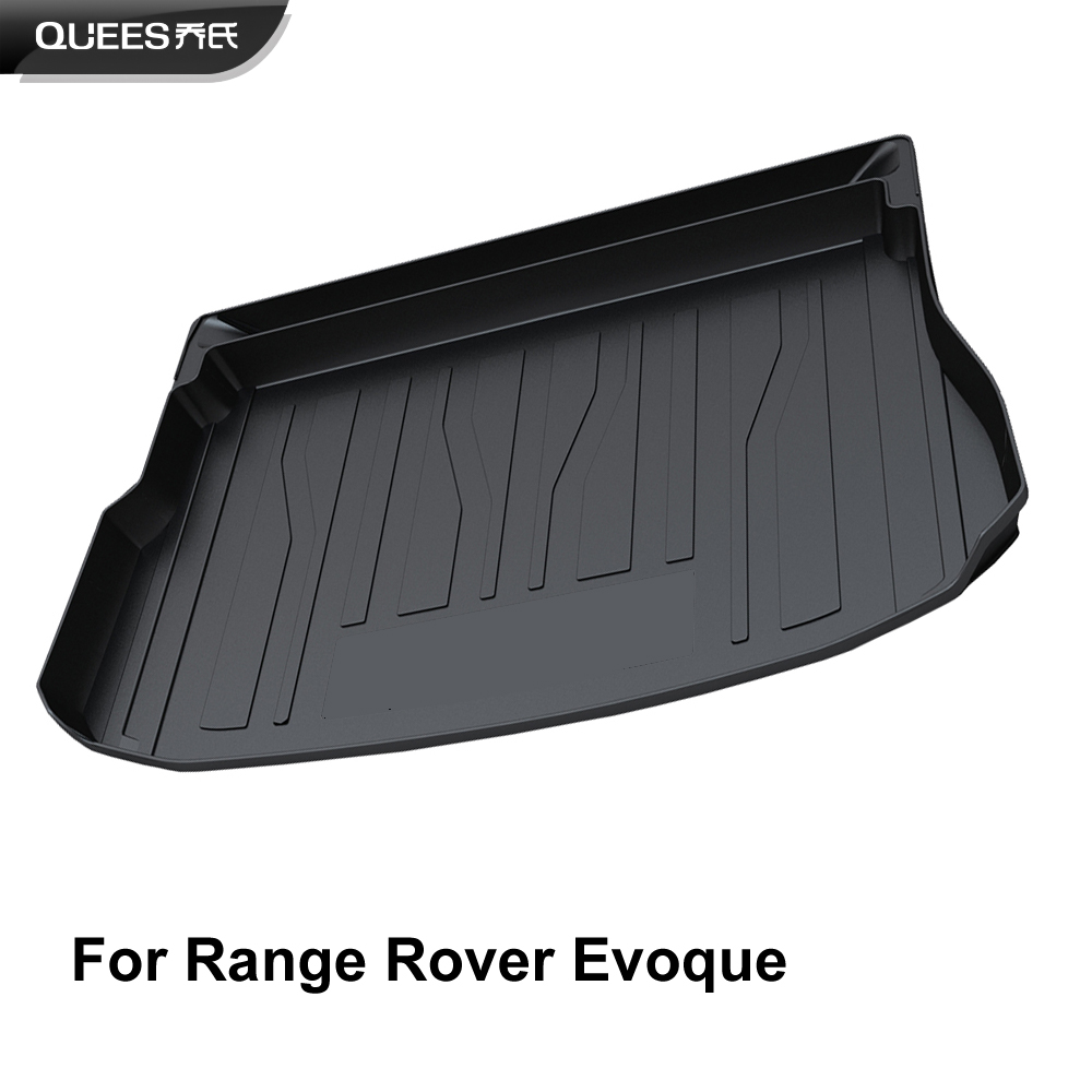 QUEES Custom Fit Cargo Liner Carpet Tray Mat for Land Rover Range Rover Evoque 2011 2012