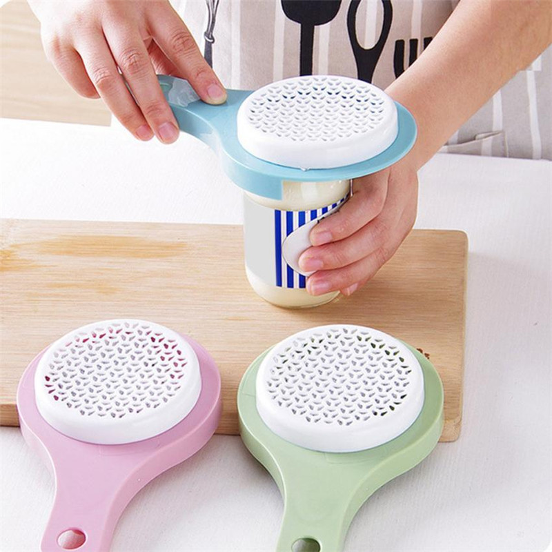 Multi Function Can Tin Opener Manual Opening Bottle Caps with Fridge Ice Box Air Purifier Varies Size with Safety Side Cut Blade