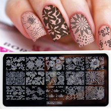 1Pcs Rectangle Lace Nail Stamping Template 3D DIY Designs Flower Letter Stamp 12.5*6.5cm Plate ZJOY-006