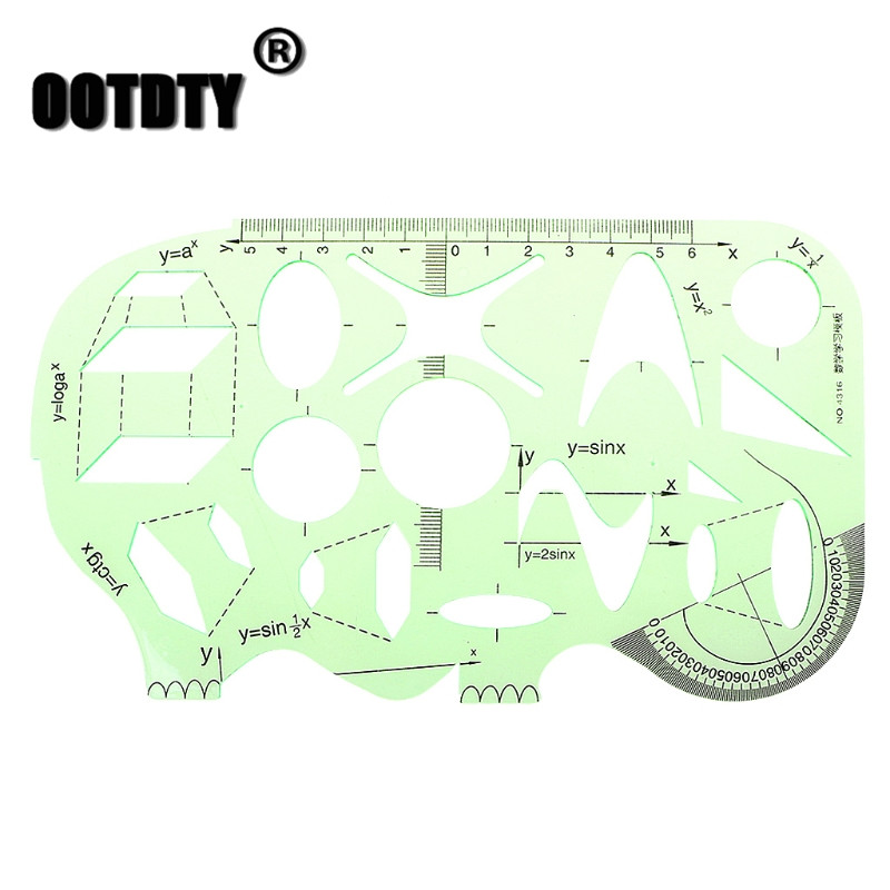 School Office Students Math Circle Measuring Drawing Plantillas Letras Template Ruler Stationery Dropshipping