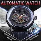 Forsining Leather Watch Clearance Men Chronograph Watch Automatic Calendar Men Military Watch