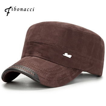 Fibonacci Classic Men Snap back Caps Military Hats Patrol Cap Adjustable Flat Top Hat