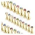 2017 Reales Nuevos Amantes de Los Amantes 316l Fine Jewelry Brincos Pendientes de la Oreja Acero médica Clavo Pequeño 1.2 Mm Varilla Fina de Colores Para la Opción