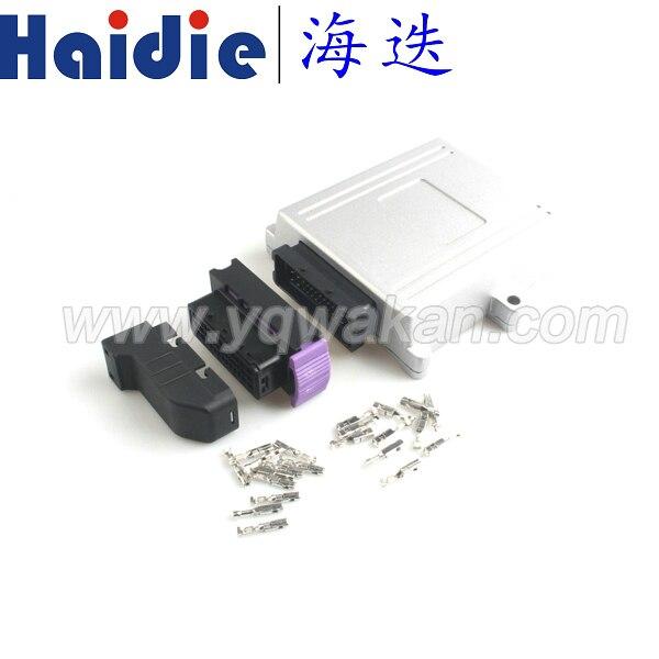 Free shipping 1set 39pin ECU connector modified aluminum shell plug car control box generator control panel