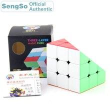 цена на ShengShou Gem 3x3x3 Magic Cube Stickerless 3x3 Cubos Professional Neo Speed Cube Puzzle Antistress Fidget Toys For Children