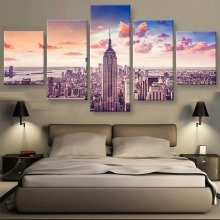 New 5 Piece Canvas Art York City Picture Cuadros Decoracion Paintings on Wall for Home Decorations Decor