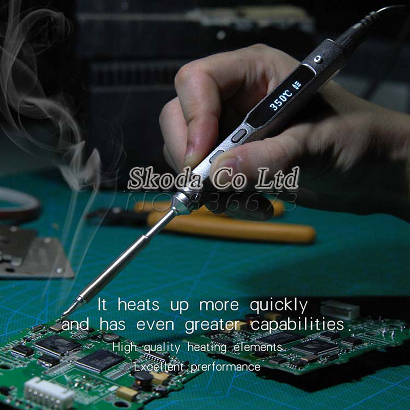 Free shipping mini Portable Electric Soldering Iron Programmable OLED Display Digital Temperature Adjustable Soldering Iron цена