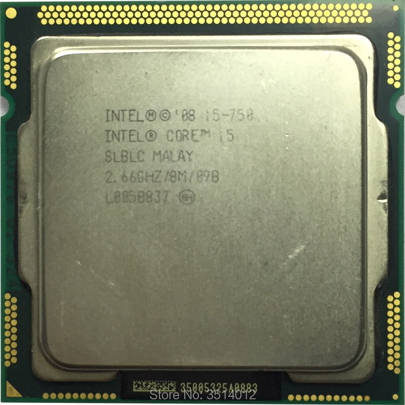 Intel Core i5 750 i5 750 2.6 GHz Quad Core CPU Processor 8M 95W LGA 1156 -in CPUs from Computer & Office