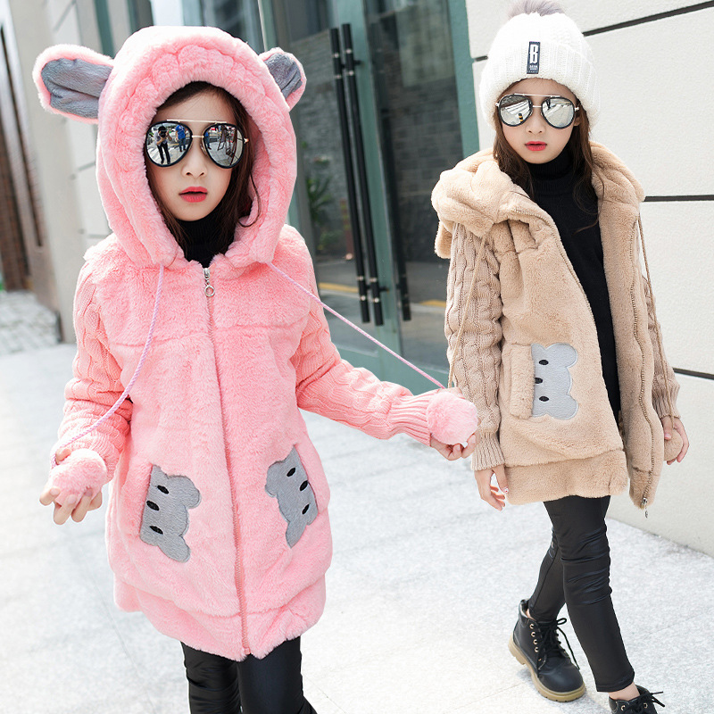 238140072760 2017 Girls Winter coat faux fur Jackets Girls Clothing Kids Clothes ...
