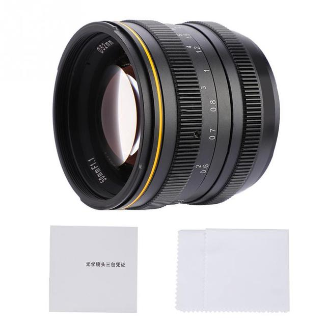 for Kamlan 50mm f1.1 APS-C Large Aperture Manual Focus Lens for Canon EOS-M NEX Fuji X M4/3 Mount camera for Mirrorless Cameras
