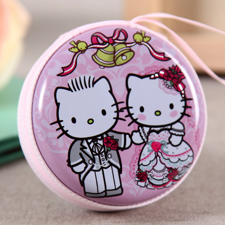 Cartoon boy girl tin waterproof headphones key zero wallet coin purses child girl women lady change purse coin bag Free shipping