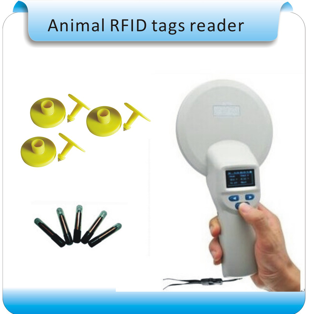 Free shipping 134.2Khz ISO 11784/5 RFID animal rfid reader for pig cattel dog sheep data management/bluetooth communication 1000pcs long range rfid plastic seal tag alien h3 used for waste bin management and gas jar management