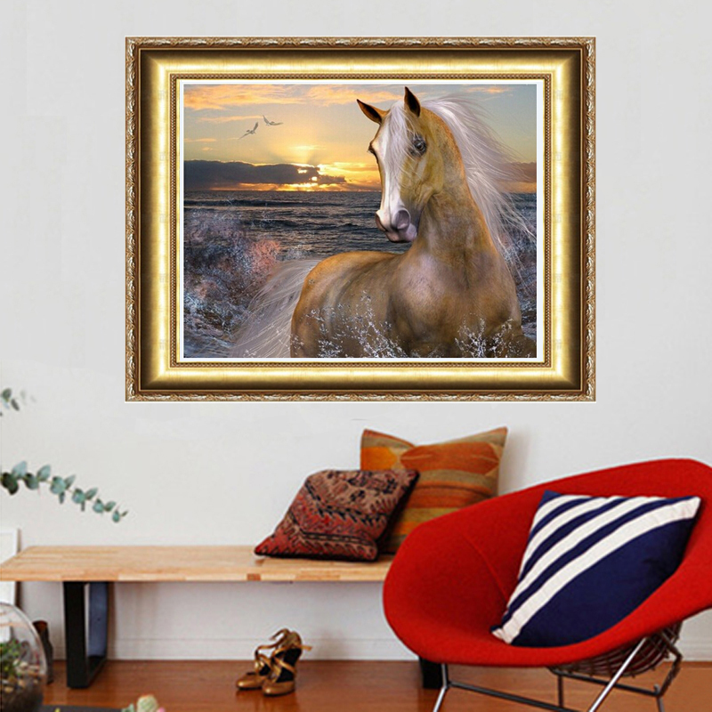 Punctual Diy Diamond Painting Landscape Horse Pattern Handmade Full Diamond Embroidery Diamond Mosaic Rhinestone Christmas Painting Gh151 Diamond Painting Cross Stitch Needle Arts & Crafts