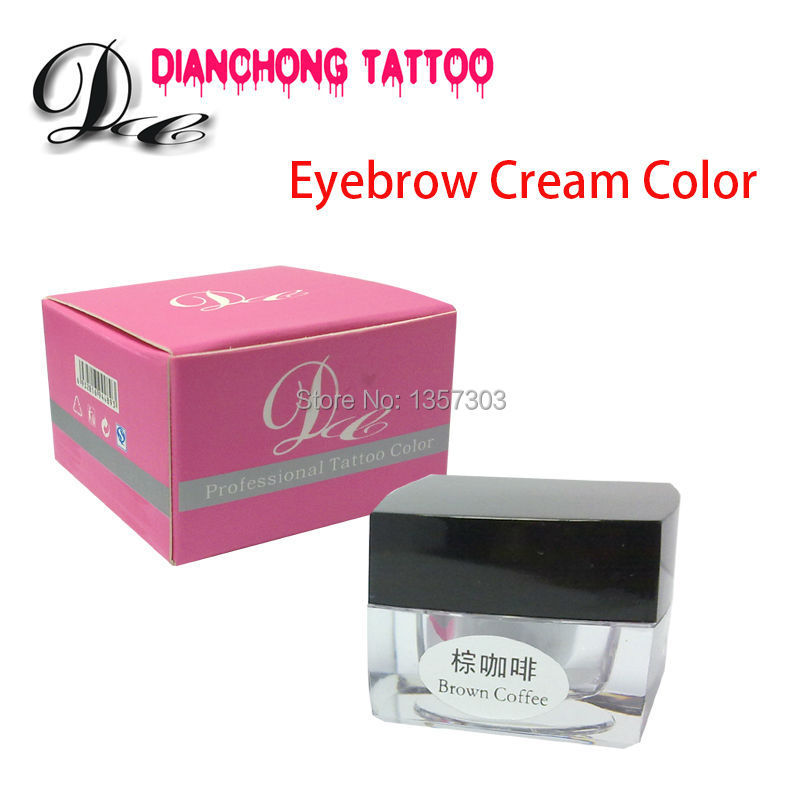 Free Shipping Permanent Makeup Pigment Tattoo Ink Color For Eyebrow Makeup Tattooing 7colors for Cosmetic Rotary 3d Pen