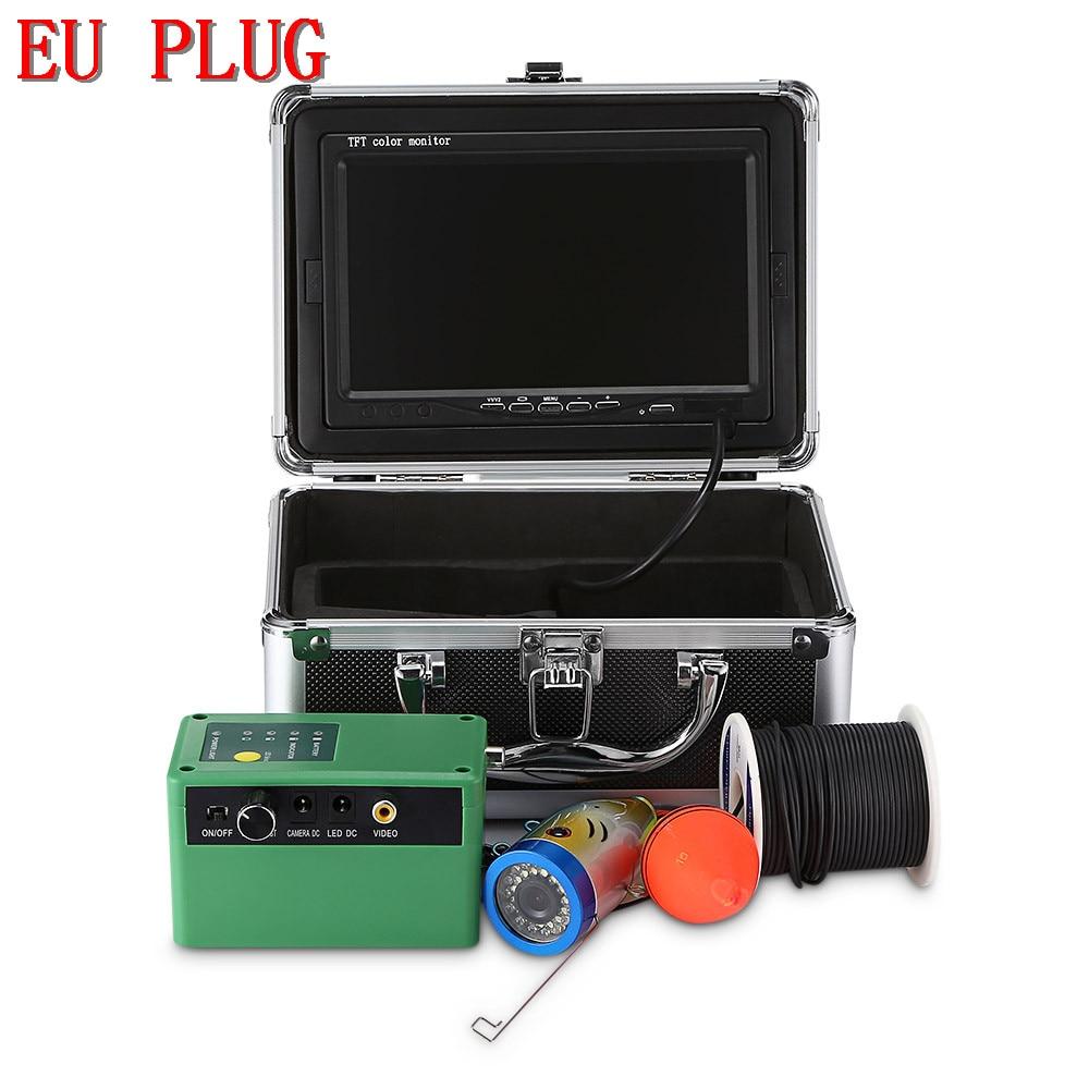 Outlife 1000TVL рыболокатор подводный рыболокатор 7,0 дюймов дисплей профессиональная рыболовная камера 15 инфракрасных ламп 15 белых светодиодов - Цвет: EU PLUG