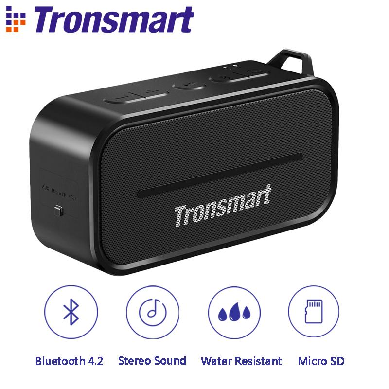 Prix pour Tronsmart Élément T2 Bluetooth 4.2 En Plein Air Résistant À L'eau Haut-Parleur Portable et Mini Haut-Parleur-Noir