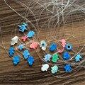 1 pieza venta Caliente Transparente de Nylon Sintético Opal Collar de Hamsa de Fátima Mano de Hamsa Collar Opalo Muchas Formas para Elegir