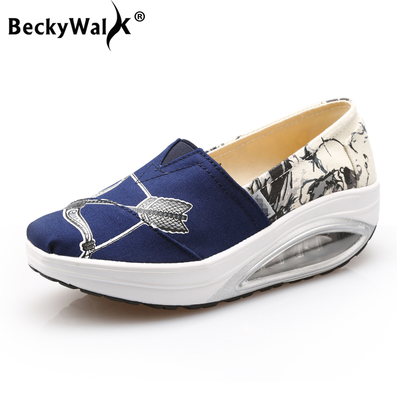 BeckyWalk Spring Platform Women Sneakers Ladies Creepers Breathable Walking Shoes Women Canvas Shoes Lady Casual Shoes WSH2931BeckyWalk Spring Platform Women Sneakers Ladies Creepers Breathable Walking Shoes Women Canvas Shoes Lady Casual Shoes WSH2931