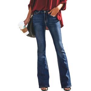 Image 5 - LIBERJOG Sexy Vrouwen Bell Bottom Broek Jeans Katoen Herfst Winter Casual Gat Wijde Pijpen Flare Denim Broek Vrouwelijke Jeans