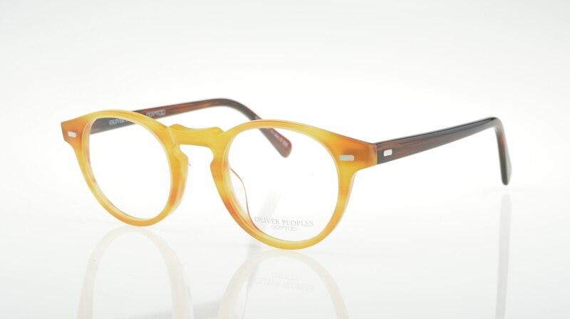 Caliente ov5186 Gregory Peck ronda moda gafas marcos Vintage óptico ...