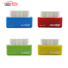 100PCS NitroOBD2 ECO OBD2 Chip Tuning Box Plug and Drive Chip Tuning interface for Diesel/Benzine cars