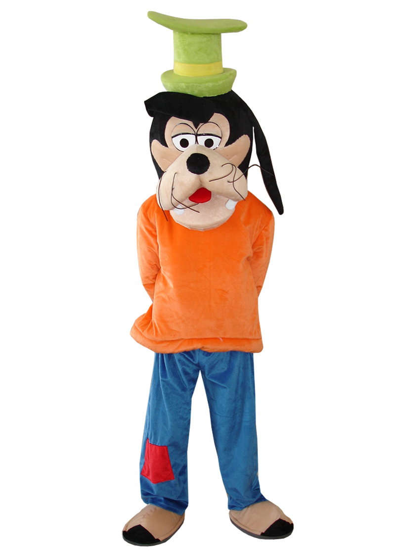 Adult Size Plush Goofy Dog and Pluto Dog Mascot Costumes Cosplay Cartoon Dress for Halloween party event