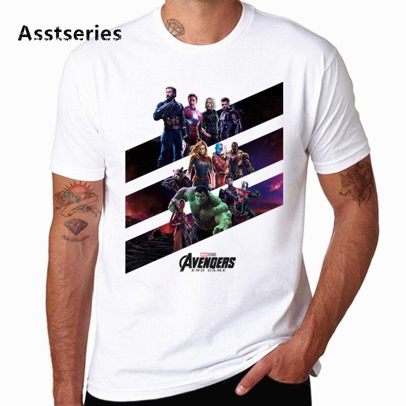 Avengers: Endgame T Shirt Marvel White Men Harajuku Streetwear Tee Hero Tshirt Unisex Drop Shipping HCP4568