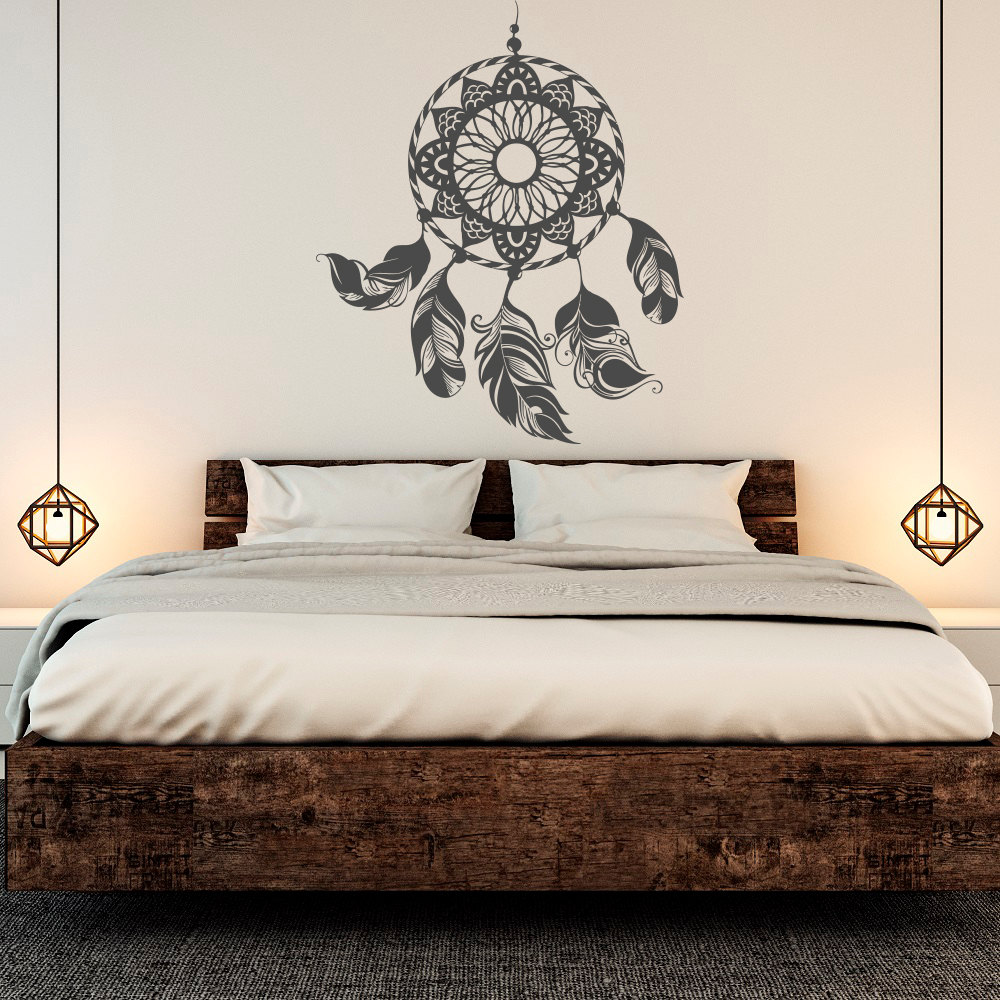 wall decal for bedroom dreamcatcher decal catcher wall sticker feather wall 17732