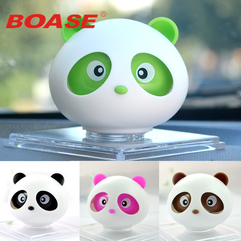 Car Perfume Ornament Cute Aroma Panda Doll Air Freshener Automobiles Internal Decoration Panda Balm Solid Fragrance Accessories