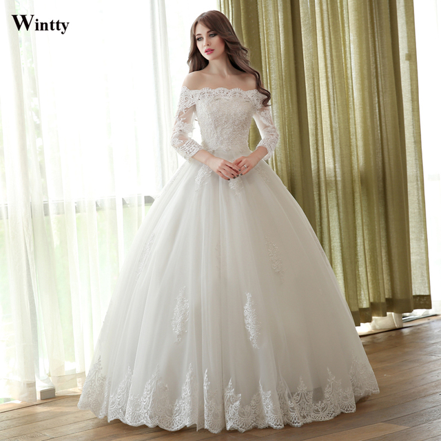 Wintty 2016 Luxury Princess plus size Bridal gowns Long Wedding ...