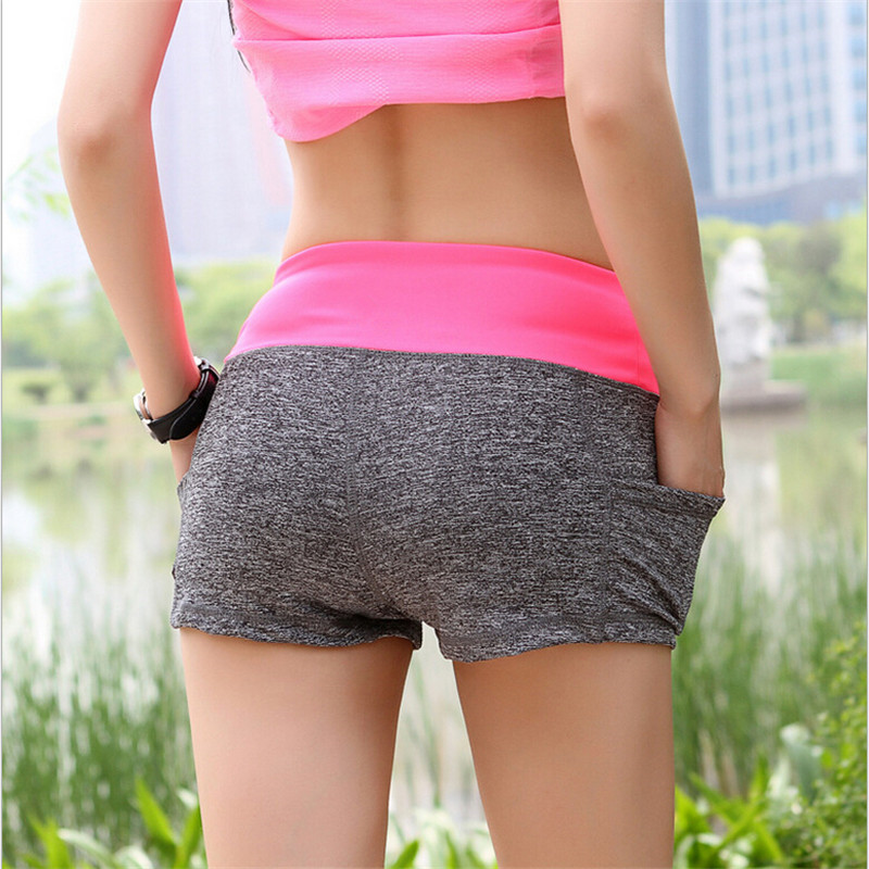New Arrival 5 colors Size S-XL Women Running Shorts High Waist Shorts Gym Cycling Fitness Shorts Free Shipping ...