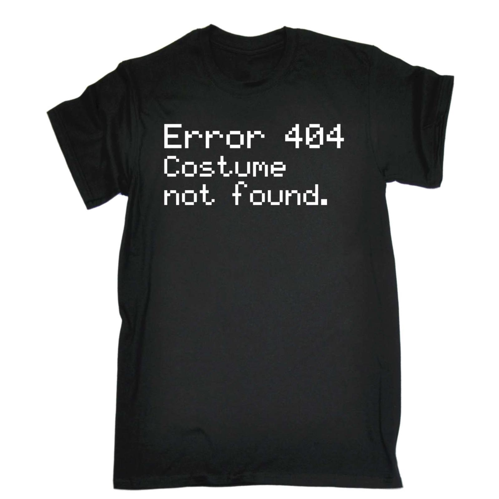 Men's <font><b>Error</b></font> <font><b>404</b></font> Costume Not Found Funny Joke Halloween Geek Nerd IT T-<font><b>Shirt</b></font> Hot Sale Men T <font><b>Shirt</b></font> Fashion Letter Printing image