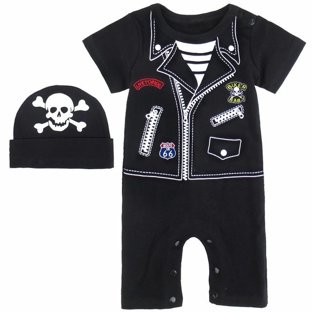 Bébé Garçons Darth Vader Costume Star War Infantile Barboteuse avec Cape Taille 0-24 Mois
