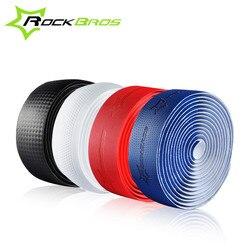 Rockbros estrada bicicleta barra fita acessórios da bicicleta alça do guiador ciclo bisiklet aksesuar vermelho/azul/branco/preto fibra bicicleta barra fita