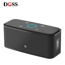 DOSS SoundBox Touch Control Bluetooth Speaker 2*6W Portable Wireless Speakers Stereo Sound Box with Bass and Built-in Mic harmonixx portable wireless bluetooth speaker with built in speakerphone 10 hour rechargable battery and enhanced bass for iphone android ipad