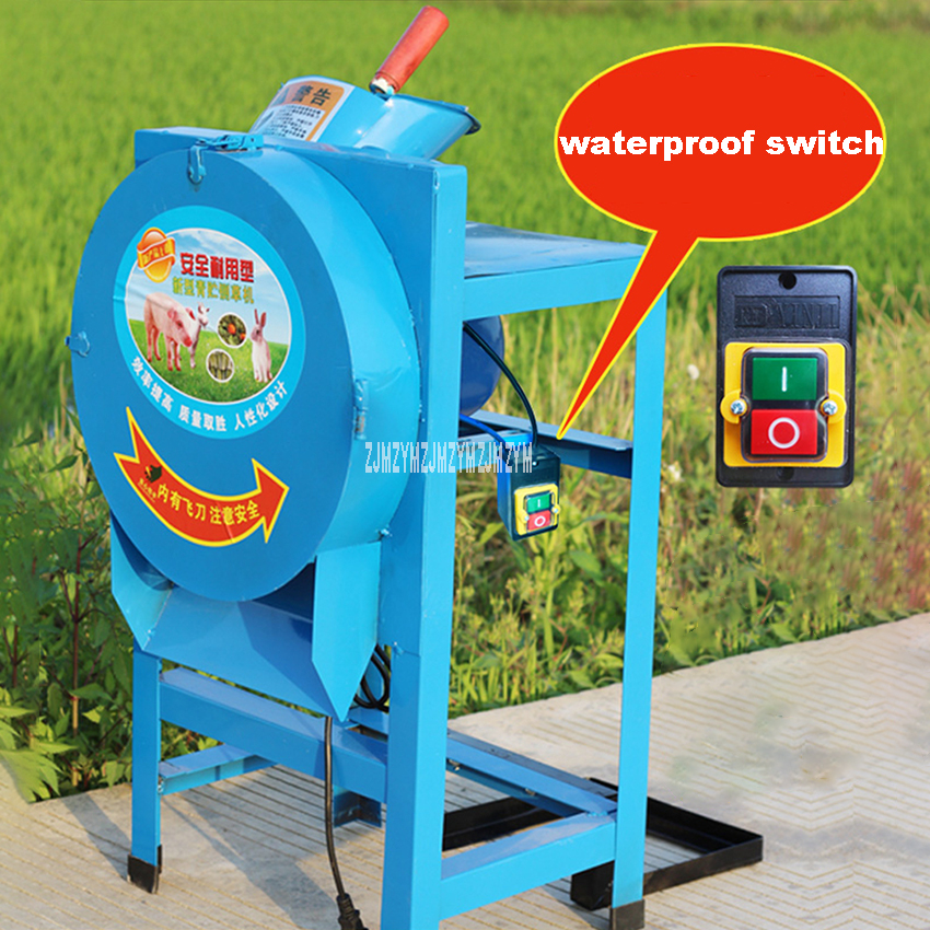 YK-6203 Agricultural Feed Processing Straw Silage Machine Electric Hay Cutter Household Hay Chaff Cutter Forage Crop Crusher