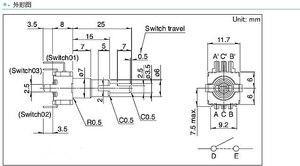 Image 2 - 1 ピース ALPS デュアル EC11EBB24C03 デュアルエンコーダスイッチ 30 、ポジショニング番号 15 、パルスポイントハンドル 25 ミリメートル