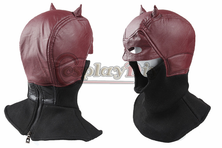 Daredevil Cosplay Mask Adult Men Superhero Daredevil Costume Accessaries For Halloween Masquerade Party Prop Custom Made D0323 adult men s tangled flynn rider cosplay boots shoes halloween cosplay prop custom made