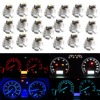 50pcs/lot T4.2 2 3528 LED White Red Blue Green Yellow light instruments panel Dashboard Cluster Gauges Led light bulbs Neo Wedge