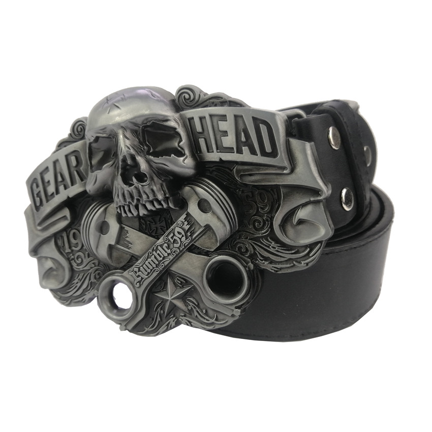 Mens Lucky 13 Biker Motorcycle Outlaw Cowboy Punk Rock Fashion Belt Buckle