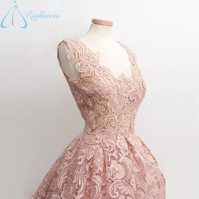 Best Sale Cheap Elegant V Neck Prom Dresses 2017 Real Photo Lace ...