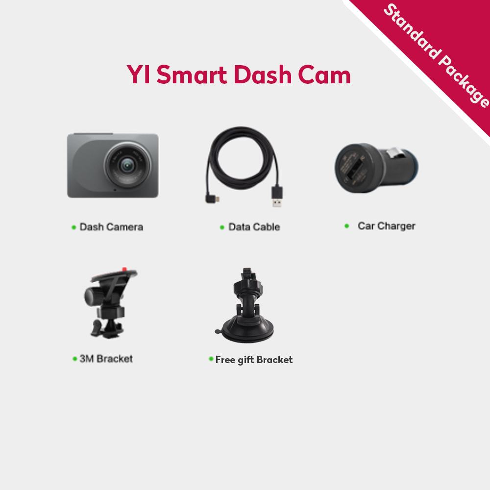 [Édition internationale] Xiaomi YI Smart dvr de voiture 165 Degrés 2.7
