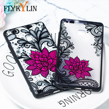 FLYKYLIN Lace Rose Flower Case For Huawei P20 Pro P10 Plus P9 P8 Lite 2017 Phone Cases PC + TPU Silicone Cover Cartoon Coque NEW