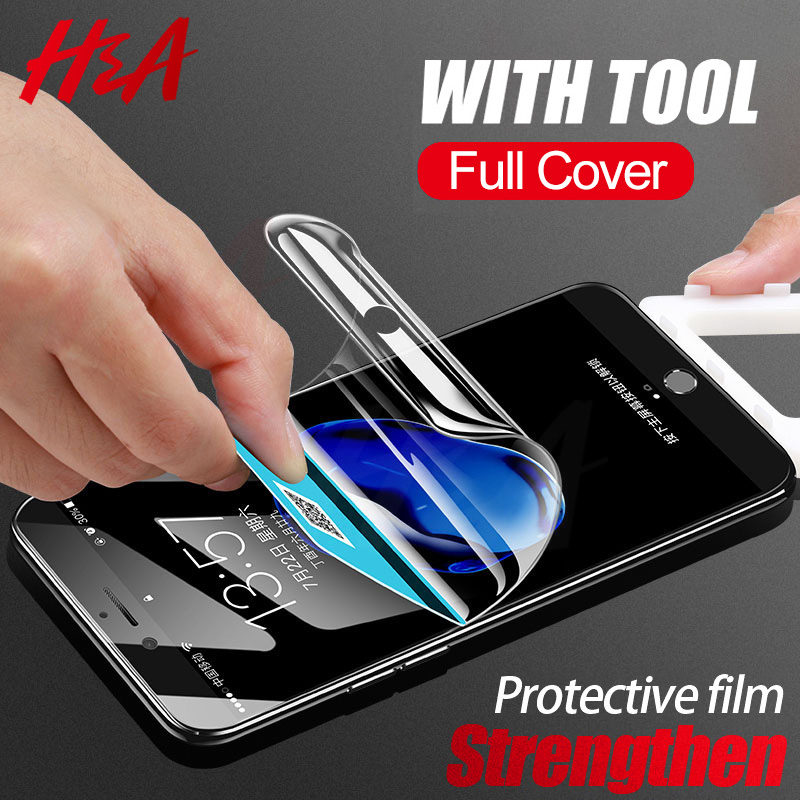 Galleria fotografica H&A Strengthen Hydrogel Film on For Apple iPhone 7 8 Plus Cover Screen Protector For iPhone 6 6s Plus Protective Film Not Glass
