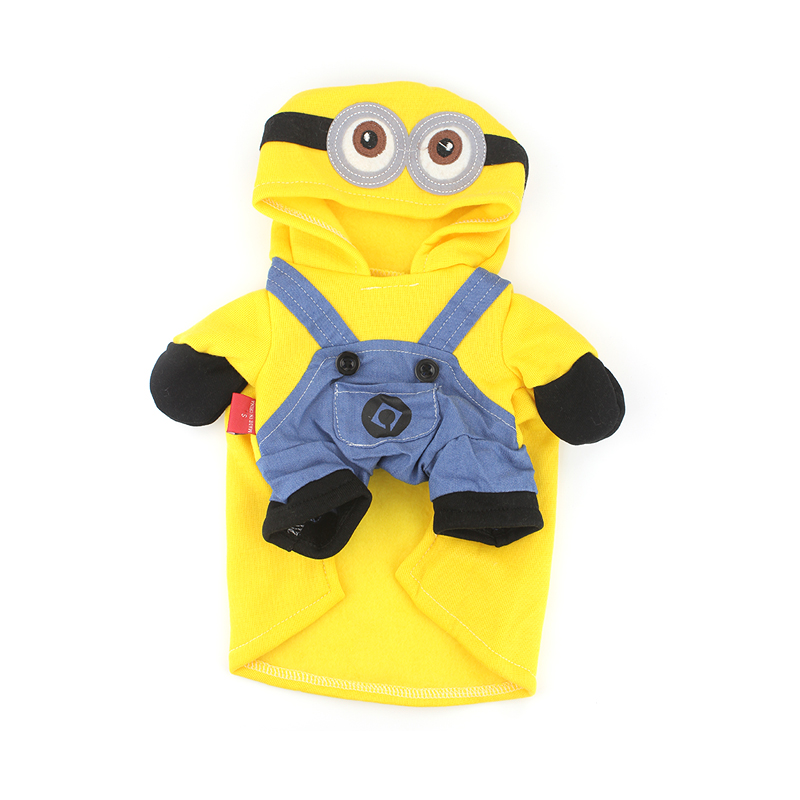 Clothes for small dog hoodie yellow minions costume for Minion clothespins