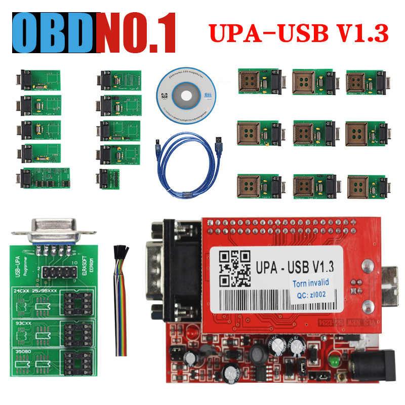 USB di UPA Programmatore USB V1.3 V2014 Programmatore Pieno SIM Card E Adattatori con NEC Funzioni 40Pin Zif Socket 16Pin SOIC 93C Chip 24C01 85C92