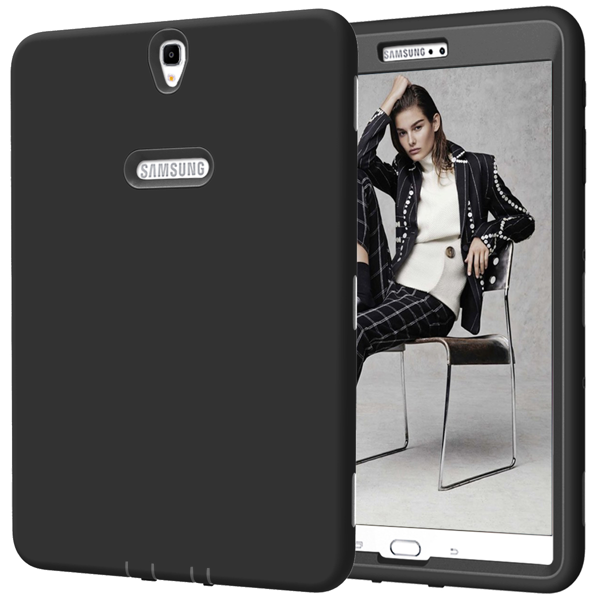 For Samsung Galaxy TAB S3 9.7 SM-T820/T825 Case Cover, High-Impact Shock Absorbent Dual Layer Silicone+Hard PC Bumper Protective аксессуар чехол samsung galaxy tab a 7 sm t285 sm t280 it baggage мультистенд black itssgta74 1