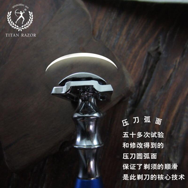 Titan rakhyvlar med dubbelsidig rakhyvel set med borsttvätt, fri - Rakning och hårborttagning - Foto 2